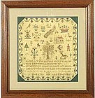 "Signed ""Tree of Life"" Sampler C 1811"