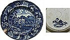 Blue and White Staffordshire Scenic View Plate  c1820