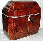 Gorgeous English Tortoiseshell Tea Caddy  c1825