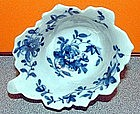 First Period Dr. Wall Worcester Butterboat; c 1758