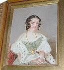 Beautiful English Miniature Painting c 1835