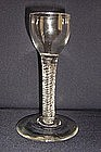 Rare Double Series Air Twist Cordial Glass  c 1755