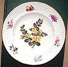English Porcelain Botanical Plate; c  1820