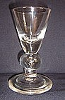 Rare Heavy Baluster Dram Glass, c 1705