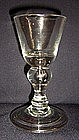 A Heavy Baluster Dram Glass; c 1700 - 1710