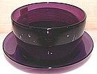 Beautiful English Glass Finger Bowl and Undertray c1830