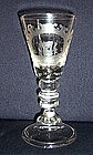 Superb German Lauenstein Engraved Baluster Glass c1740