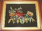 Folk Art Tinsel Painting c 1880