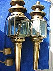 A Pair of Coach or Carriage Lamps  c1880