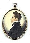Fine Miniature Portrait by J.H. Gillespie  c1835