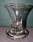 Firing Foot Antique Dram Glass  c1740