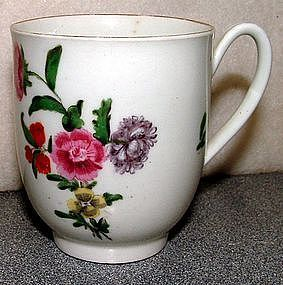 First Period Dr. Wall Worcester Coffee Cup  c1765
