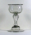 English Baluster Champagne Glass  c1695