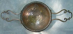 A Rare Sheffield Silver Plate Punch Strainer 19th c