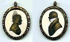 John Field Miniature Double Silhouette  c1795