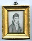 Small Portraits Sea Captain and Wife  Maine  c1832