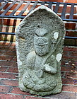 Japanese Stone Bodhisattva
