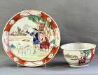 Chinese Export Porcelain Tea Bowl&Saucer,European