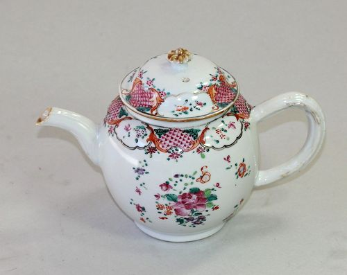 18C. Chinese Export Famille Rose Porcelain Tea Pot