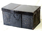 Japanese Black Lacquer on Bamboo Trunk with top