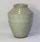Chinese Celadon Crackled stoneware Vase