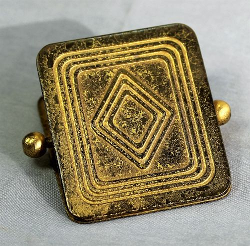 """Tiffany Studios"" Gilded Bronze Clip, Art Deco"