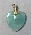 Chinese Jadeite Jade Heart shape Pendant