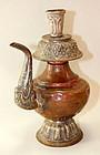 Mongolian Ritual Vessel, silver on copper