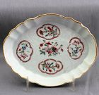 Chinese Export Famille Rose Porcelain Spoon Rest/tray