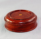 Chinese Hardwood Display Top for small Jar