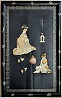 Japanese Mother of Pearl inlaid Picture, 19C.