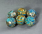 Chinese King Fisher Feather Beads(6)