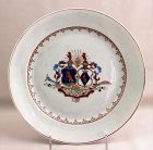 Chinese Export Famille Rose Armorial Porcelain Plate