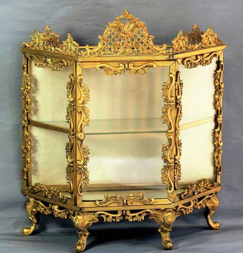 French Ormolu and Glass Display Vitrine
