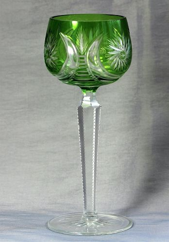Bohemian Cut Crystal tall Wine Glass