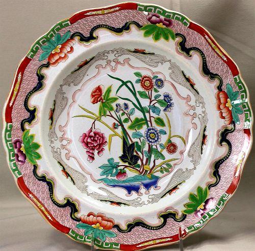 "English Staffordshire ""Indian Stone China"" Soup Plate"