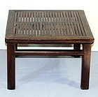 Chinese Wood square coffee table with Bamboo top
