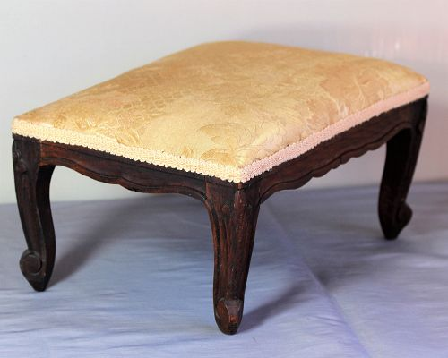 French carved wood Foot Stool