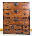 Japanese Cedar wood two(2) section Tansu