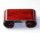 Chinese Rosewood Scroll Shape Display Stand