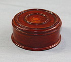 Chinese Hardwood carved wood top for tea caddy
