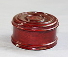 Chinese Hardwood carved top/lid or cover for tea jar