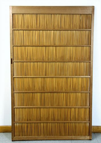 Japanese Reed and Kiri wood frame Sliding Door