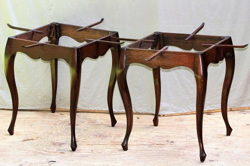Pair. Mahogany wood tray table stand