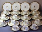 English Cauldon Porcelain Gold Band Dessert Set