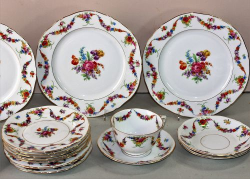 Set of Czechoslovakia EPIAG porcelain dessert