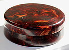 Victorian imitation Tortoise shell Powder Box