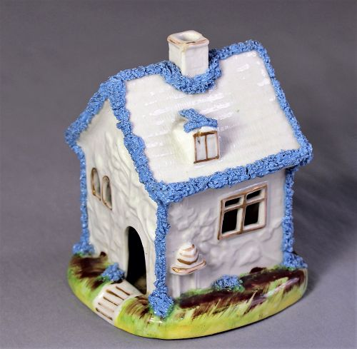 English Staffordshire Porcelain Cottage