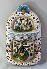 Portuguese Pottery hand painted Bird Soap dish and hanger