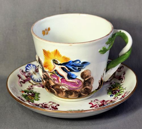 Italian Capodimonte Porcelain Cup and Saucer